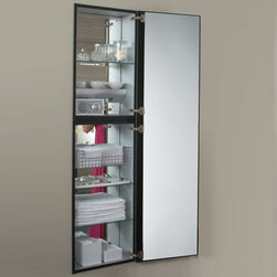 Robern - Robern | M Series Full Length Mirrored Cabinet - Made in the United States by Robern.With its seven adjustable shelves, the M Series Full Length Mirrored Cabinet provides ample storage for bath supplies and toiletries alike. Also equipped with a swing-out magnifying mirror for more precise reflections, the M Series Full Length Mirrored Cabinet has everything you need in a modern medicine cabinet. Product Features: