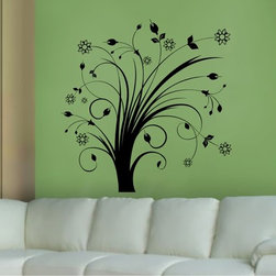 StickONmania - Plant Design #35 Sticker - A cool vinyl decal wall art decoration for your home  Decorate your home with original vinyl decals made to order in our shop located in the USA. We only use the best equipment and materials to guarantee the everlasting quality of each vinyl sticker. Our original wall art design stickers are easy to apply on most flat surfaces, including slightly textured walls, windows, mirrors, or any smooth surface. Some wall decals may come in multiple pieces due to the size of the design, different sizes of most of our vinyl stickers are available, please message us for a quote. Interior wall decor stickers come with a MATTE finish that is easier to remove from painted surfaces but Exterior stickers for cars,  bathrooms and refrigerators come with a stickier GLOSSY finish that can also be used for exterior purposes. We DO NOT recommend using glossy finish stickers on walls. All of our Vinyl wall decals are removable but not re-positionable, simply peel and stick, no glue or chemicals needed. Our decals always come with instructions and if you order from Houzz we will always add a small thank you gift.