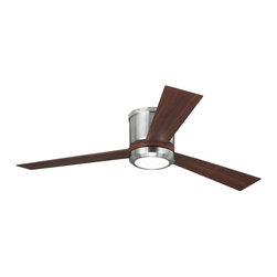 """Monte Carlo Fan - Monte Carlo Fan Clarity II 52"""" Transitional Flush Mount Ceiling Fan X-DSB25RYLC3 - This advanced LED technology is carefully designed and selected to consist of the highest quality LED chipsets for superior performance and reliability."""