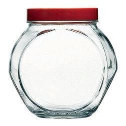 Hospitality Glass - 6.75H x 4.25T x 4B 66.7 oz Bella Jar with Lid 6 Ct - 66.7 oz Bella Jar with Lid