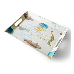 Frontgate - Sea Life Serving Tray - Constructed of 100% heavyweight melamine that gives the look and feel of pottery. All round pieces feature a raised, textured nautical-rope border. Ideal for outdoor or indoor entertaining, year-round. Top-rack dishwasher safe. Allows you to entertain indoors or out without worrying about broken dishes. Infuse your alfresco dining with seaside spirit, thanks to our exclusive, shatterproof Sea Life Dinnerware and Serveware, which reproduce an original artwork. The heavyweight melamine mimics the look of hand-painted ceramics, and is elevated by coastal designs.  .  .  .  .  . Do not use in oven or microwave .