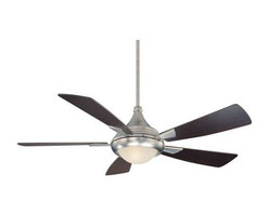 Savoy House - Savoy House Zephyr Ceiling Fan in Satin Nickel - Savoy House Zephyr Model SV-54-471-5CN-SN in Satin Nickel with Chestnut Finished Blades.