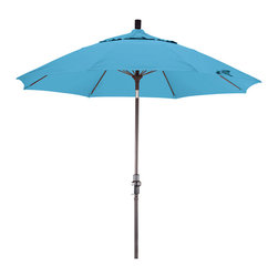 California Umbrella - 9 Foot Pacifica Crank Lift Collar Tilt Aluminum Patio Umbrella, Bronze Pole - California Umbrella, Inc. has been producing high quality patio umbrellas and frames for over 50-years. The California Umbrella trademark is immediately recognized for its standard in engineering and innovation among all brands in the United States. As a leader in the industry, they strive to provide you with products and service that will satisfy even the most demanding consumers.