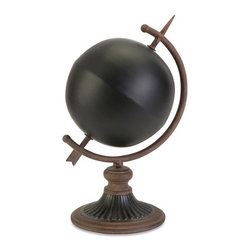 "IMAX - Chalkboard Globe - Create your own planet by adding your own unique view of the world to this chalkboard globe. Item Dimensions: (15""h x 8.75""w x 8.75"")"