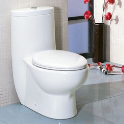 Eago - Tall Dual Flush One Piece Eco-Friendly Cerami - Dual Flush 1.6 gpf & 0.8 gpf. Dimensions: 28 3/8in. x 16in. x 30 6/8in.. One Piece Toilet. European design. Siphonic Flush System. New tower based mechanism; No chain, no flapper. Fully Glazed inside & out. Soft Closing Toilet Seat, Lid & wax ring included. Powerful & efficient 3in. flushing valve. Wide water surface allows for easy cleaning. Balanced water distribution. EAGO Eco-Friendly Dual Flush One Piece Toilets. ManualThe Future of American Toilets. Ultra Low Flush (ULF) Eco-Friendly 1.6 Gallon flush. The Most Advanced Flushing System. Only One Flush. This environmentally friendly toilet will save a family of four an average of 10,000 gallons of water per year! Never be startled again by the loud crash of a slamming toilet seat. The soft drop seat has an innovative hinge system that will gently guide the toilet seat down with out a sound.