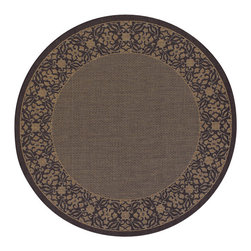 """Couristan - Recife Summer Chimes Rug 1523/0121 - 7'6"""" x 7'6"""" Round - These weather-defying area rugs are suitable for indoor and outdoor use. You'll love the way they color-coordinate with today's most popular outdoor furniture pieces. The collection's naturally inspired color palette will provide a warmer and more inviting appearance for patio decks and stone entryways."""