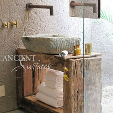 Mediterranean Bathroom Sinks by Ancient Surfaces