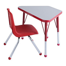 ECR4KIDS - ECR4KIDS Learning Toddler Desk - ELR-14118-GRD-TB - Shop for Childrens Tables from Hayneedle.com! Encourage an early love of learning with the Early Childhood Resources Learning Toddler Desk. Bright happy colors in non-toxic plastic highlight the 1.125-inch table top with chrome inserts and a white laminate top. You choose the color but regardless which you choose the smooth stable desk will inspire any child to sit and draw or read. The legs on the desk are adjustable in 1-inch increments held in place with threaded adjustment holes in lower legs. Easy to clean and stain-resistant this little desk will serve you well. About Early Childhood ResourcesEarly Childhood Resources is a wholesale manufacturer of early childhood and educational products. It is committed to developing and distributing only the highest-quality products ensuring that these products represent the maximum value in the marketplace. Combining its responsibility to the community and its desire to be environmentally conscious Early Childhood Resources has eliminated almost all of its cardboard waste by implementing commercial Cardboard Shredding equipment in its facilities. You can be assured of maximum value with Early Childhood Resources.