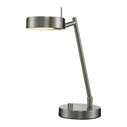 Z-Lite - Z-Lite Ofuse 1 Light Table Lamp X-NB-102LT - Flexible, adjustable, a great reading lamp. The Ofuse table and floor lamps will be very useful where a little extra light is needed. Finished in brushed nickel and chrome to compliment any d&#233:cor.