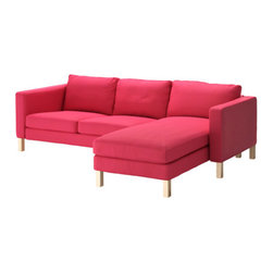 Tord Björklund - KARLSTAD Loveseat and chaise lounge - Loveseat and chaise lounge, Sivik pink-red