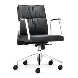 Zuo Modern - Zuo Modern Dean Low Back Office Chair Black - Low Back Office Chair Black belongs to Dean Collection by Zuo Modern Office Chair (1)