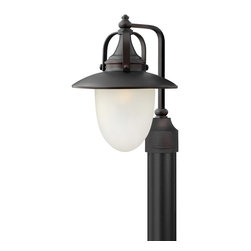 Hinkley Lighting - Hinkley Lighting 2081SB Pembrook 1 Light Post Lights & Accessories in Spanish Br - Pembrook is a classic, All-American style traditional hanging lantern design in a Spanish Bronze finish. The solid aluminum construction of this post fitter features cast ball knob detailing while the acorn shaped glass makes it ideal for Energy Saving (E