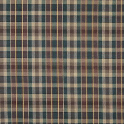 Red, Green And Gold, Textured Plaid Upholstery Grade Fabric By The Yard - Textured timeless plaids and stripes are excellent for all indoor upholstery.