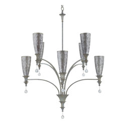 Yosemite Home Decor - 8 Lights Chandelier in Antique Silver Gray Capiz - Feature: