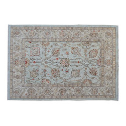 Area Rug, 5'X7' 100% Wool Stone Wash Ziegler Mahal Hand Knotted Rug SH9146 - Hand Knotted Oushak & Peshawar Rugs are highly demanded by interior designers.  They are known for their soft & subtle appearance.  They are composed of 100% hand spun wool as well as natural & vegetable dyes. The whole color concept of these rugs is earth tones.