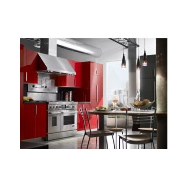 "Jenn-Air® Ventilation Options - The Jenn-Air® 48"" Pro-Style® Range features powerful burners, a high-performance chrome-infused griddle, a distinctive LCD display and commercial-style details like diamond-etched handles."