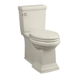 "American Standard - American Standard 2817.128.222 Town Square FloWise Elongated Toilet, Linen - American Standard 2817.128.222 Town Square FloWise Concealed Trapway Right Height Elongated Toilet,  Linen. This elongated toilet features a combination bowl, tank, and seat, a 12"" Rough-in, an EverClean system that inhibits the growth of bacteria, mold, and mildew, a PowerWash rim that scrubs the bowl with each flush, a fully-glazed 2"" trapway, an oversized 3"" flush valve, a chrome left-handed trip lever, and 2 color-matched bolt hole covers."