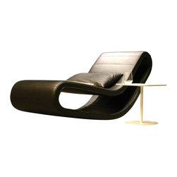 B&T Design - Daydream Lounge Chair, Gazebo Eco-Leather Yellow - 71 - Daydream Lounge Chair