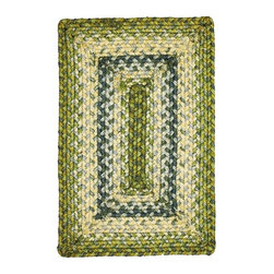 """Homespice - Homespice Ocean Maze Braided Rectangle Placemat, 13""""x19"""" - Calming and serene, shades of blue, green and creamy tan create a soothing palette. There is a place for Homespice Decor jute braided rugs in almost every home. Dress them up or go casual. Make them the center piece of a room or an eye catching accent. Made of natural fiber, our jute rugs are soft, durable and affordable. Available in rich earth tones and vibrant hues, they provide a warm, inviting atmosphere that stresses the importance of an eco-friendly environment."""