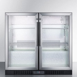 Summit - SCR7012D 7.4 cu.ft. Capacity Commercial Back Bar Freestanding Beverage Center wi - SUMMIT39s SCR7012D is a Commercial Beverage Center designed to maximize sales with the sleek design and proper product display This commercially approved Refrigerator is low maintenance due to its automatic defrost function The Adjustable Chrome Shel...