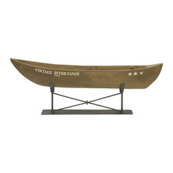 IMAX CORPORATION - Vintage River Canoe on Metal Stand - The hand carved vintage river canoe is raised on a metal stand and brings back memories of summer camp. Looks great in a variety of interiors!. Find home furnishings, decor, and accessories from Posh Urban Furnishings. Beautiful, stylish furniture and decor that will brighten your home instantly. Shop modern, traditional, vintage, and world designs.