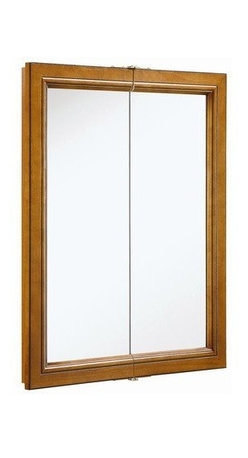 DHI-Corp - Montclair Chestnut Glaze Double Door Medicine Cabinet Mirror - The Design House 541383 Montclair Chestnut Glaze Double Door Medicine Cabinet Mirror features a durable chestnut finish, 2-shelf design and particle board side panels. With 2-doors, this medicine cabinet measures 30-inches by 24-inches by 6-inches. The doors glide open revealing shelves to store shampoo, medicine and makeup. The doors open with a fluid motion, do not whine or creak and endure moderate stress. Use this mirror for shaving or applying makeup in the morning. This product comes pre-assembled and is CARB compliant, which means it adheres to the toughest production standards in the world for formaldehyde emissions (in wood composite paneling). The Design House 541383 Montclair Chestnut Glaze Double Door Medicine Cabinet Mirror has a 1-year limited warranty that protects against defects in materials and workmanship. Design House offers products in multiple home decor categories including lighting, ceiling fans, hardware and plumbing products. With years of hands-on experience, Design House understands every aspect of the home decor industry, and devotes itself to providing quality products across the home decor spectrum. Providing value to their customers, Design House uses industry leading merchandising solutions and innovative programs. Design House is committed to providing high quality products for your home improvement projects.