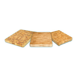 None - End Grain Chopping Block w/ Feet - Suitable for chopping cheese at home or chives in a restaurant kitchen, this wooden end-grain cutting board is non-skid and knife-friendly. The 17' x 13' x 2' block is finished with oil and comes with a 90-day warranty for peace of mind.