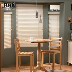 """Bali Wood Blinds - Northern Heights 2"""" Wood. Whites and off-whites,Light wood st - Northern Heights 2"""" Wood - Buy with Confidence, Get Free Samples Today!Bali's Northern Heights 2"""" Wood Blinds are some of the best made, most all-purpose wood blinds available, making them a long-time favorite of customers. These blinds are made from North American hardwood, creating a blind that is simultaneously more durable and lightweight compared to faux wood blinds and other wood blinds. Bali's wood blinds always come with the additions that set the brand apart — all of the hardware, including ladders, cords and tassels, is color-coordinated. Comes standard with a decorative valance, with a more sculpted valance available for an additional charge. Backed by the Bali Limited Lifetime Warranty.  Install Time: 12-15 minutesWe Recommend:"""