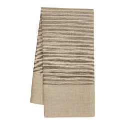 Natural Lines Tea Towel by PAWLING - Add simple elegance to your kitchen with this handmade, screen-printed linen tea towel.