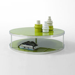 Green Apple Coffee Table - In a color that goes with everything, this coffee table is meant to show off more than just hot beverages. Toss a book below and a glass of wine above.
