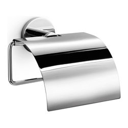 WS Bath Collections - Napie Toilet Paper Holder - Napie by WS Bath Collections Toilet Paper Holder with Cover in Polished Chrome, Made in Italy