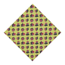 KAF Home - Jardin Napkin, Set of 4 - This beautiful design features an intricately-stitched floral pattern that originates in 1830s France. Bright colors make it perfect for summer, and appropriate for any occasion.