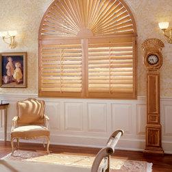 Heritance® hardwood shutters with Standard Hinged Panel - Hunter Douglas Product Photography