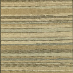 """Loloi Rugs - Loloi Rugs Capri Collection - Beige/Multi, 7'-10"""" x 10'-9"""" - Create your own patio paradise with the modern indoor/outdoor Capri Collection. Available in bold linear and geometric patterns, these rugs not only have the style to capture the eye but also the durability to handle Mother Nature's elements. That'sbecause Capri is made in Egypt of 100% polypropylene, specifically engineered to remain vibrant in spite of UV rays or rain. And with cool, earthy browns and slate blue color tones, Capri looks great inside too. If the kids, pets, or guests spill something and stain the rug, just hose it down and let it dry out."""