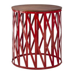 Threshold Mixed Material Accent Table, Wood and Metal - Santa needs to bring this down the chimney for me. Pretty please! I love this wood and metal red accent table from Target. I'd put it by the slipper chair in my living room.
