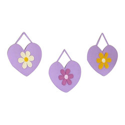 Sweet Jojo Designs - Daisies Wall Decor - The Daisies Wall Decor by Jojo Design include 3 wall hangings that will add a designers touch to any childs room! These childrens wall hangings are handcrafted with care and will brighten any childs room or nursery.
