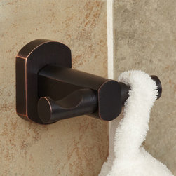 Marlton Double Robe Hook - The Marlton Double Robe Hook made of brass and ideal for hanging robes or towels. Concealed mounting Bath Accessories gives this bath accessory a clean appearance.