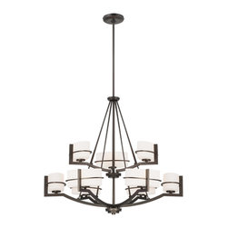 Minka Lavery - Minka Lavery Fieldale Lodge Smoked Iron 9 Light Chandelier - Minka Lavery 4159-172 Fieldale Lodge Smoked Iron 9 Light Chandelier