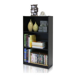 Furinno - Furinno 99736EX Basic 3-Tier Bookcase - Furinno basic bookcases series is designed to meet your need of fits in your space and fits on your budget. The main material-  Particleboard is made from recycled materials of rubber trees, eco-friendly. All the materials are manufactured in Malaysia and comply with the green rules of production. There is no foul smell, durable and the material is the most stable amongst the particleboards. A simple attitude towards lifestyle is reflected directly on the design of Furinno Furniture, creating a trend of simply nature. All the products are produced and packed 100-percent in Malaysia with 90% - 95% recycled materials.