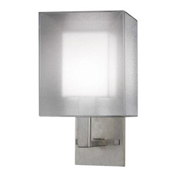 Fine Art Lamps - Quadralli Silver Sconce, 331150-2ST - The epitome of timeless sophistication, this wall sconce sports a rich bourbon or a silver-leaf finish. The shimmering organza shade shields a sheath of ivory crepe, which diffuses the light and adds to this fixture's sublime radiance.