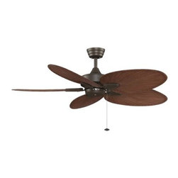 Fanimation - Fanimation Windpointe Unipack with 5 Red Palm Blades Ceiling Fan - Fanimation Windpointe Unipack with 5 Red Palm Blades Model FA-FP7500OBP4 in Oil-Rubbed Bronze with All-Weather Composite ABS Brown-Red Palm Style Finished Blades.