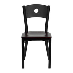 Flash Furniture - Flash Furniture Hercules Series Circle Back Metal Chair in Mahogany - Flash Furniture - Dining Chairs - XUDG60119CIRMAHWGG - Provide your customers with the ultimate dining experience by offering great food service and attractive furnishings. This heavy duty commercial metal chair is ideal for Restaurants Hotels Bars Lounges and in the Home. Whether you are setting up a new facility or in need of a upgrade this attractive chair will complement any environment. This metal chair is lightweight and will make it easy to move around. This easy to clean chair will complement any environment to fill the void in your decor. [XU-DG-60119-CIR-MAHW-GG]
