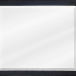 "Hardware Resources - Lyn Design MIR101-33 33"" Black Mirror - 33"" x 28"" Black mirror with beveled glass"