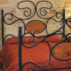 Mathews & Company - Alexander II Wrought Iron Headboard with Copper - The new Alexander Queen II Wrought Iron Headboard with Copper adds a traditional look to your bedroom. A more detailed description is on its way but you can still purchase this wonderful piece for master suite or guest bedroom. If you have questions about the product just drop a line or send us an email!Pictured in Black finish.