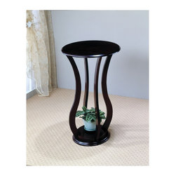 "Coaster - ""Coaster Plant Stand, Cherry"" - ""Cherry finish plant stand with bottom storage shelf.Dimensions (W x L x H): 18.00"""" x 18.00"""" x 28.50""""Finish/Color: CherryAssembly Required: NoMade in Taiwan"""
