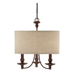 Capital Lighting - Capital Lighting Midtown Transitional 3-Light Chandelier X-254-BB3193 - Illuminate your decor with this elegant chandelier. The Capital Lighting Midtown Transitional chandelier features a bold silhouette and an organic fabric shade. Metal frame comes in a burnished bronze finish. This three-light chandelier provides a warm and welcoming light to the room.