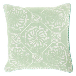 """Surya - Surya KST-005 Pillow, 20"""" x 20"""", Down Feather Filler - Layers of geometric design blend together to create a truly stunning final piece through this flawless pillow by designer Kate Spain. With a multi shape print in a series of scintillating shades, this piece offers a multidimensionality in both color and shape, creating a look that will be both unique and hypnotizing in any space. This pillow contains a zipper closure and provides a reliable and affordable solution to updating your home's decor. Genuinely faultless in aspects of construction and style, this piece embodies impeccable artistry while maintaining principles of affordability and durable design, making it the ideal accent for your decor."""