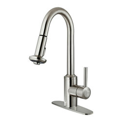 VIGO Industries - VIGO Stainless Steel Pull-Out Spray Kitchen Faucet with Deck Plate - You deserve a high-performing kitchen - why not start with a VIGO faucet for your sink?