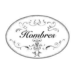 """Stupell Industries - White and Black Hombres Oval Bath Plaque - Decorative and fuctional. Made in USA. MDF Fiberboard. Original Stupell art. Approx. 11 in. W x 15 in. L. 0.5 in. ThickWhat better way to add class to your bath than with a wall plaque by from """"The Stupell Home decor Collection."""" Whether it is the black and white """"la toilette,"""" the black oval """"powder room,"""" or the rectangle crest """"le bain,"""" one thing stays the same: each plaque is hand finished, made in the USA, and comes with colorful grosgrain ribbon for hanging. Bath plaques from """"The Stupell Home decor Collection"""" are meticulously crafted by a variety of in-house artists and come on ½"""" thick MDF fiberboard."""