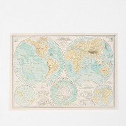 Hemispheres Poster - Put things into perspective when planning your next big adventure with this hemispheres poster.